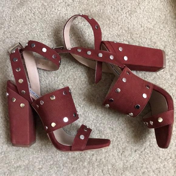 4589a56ee32d Steve Madden Rust silver studded heeled sandals